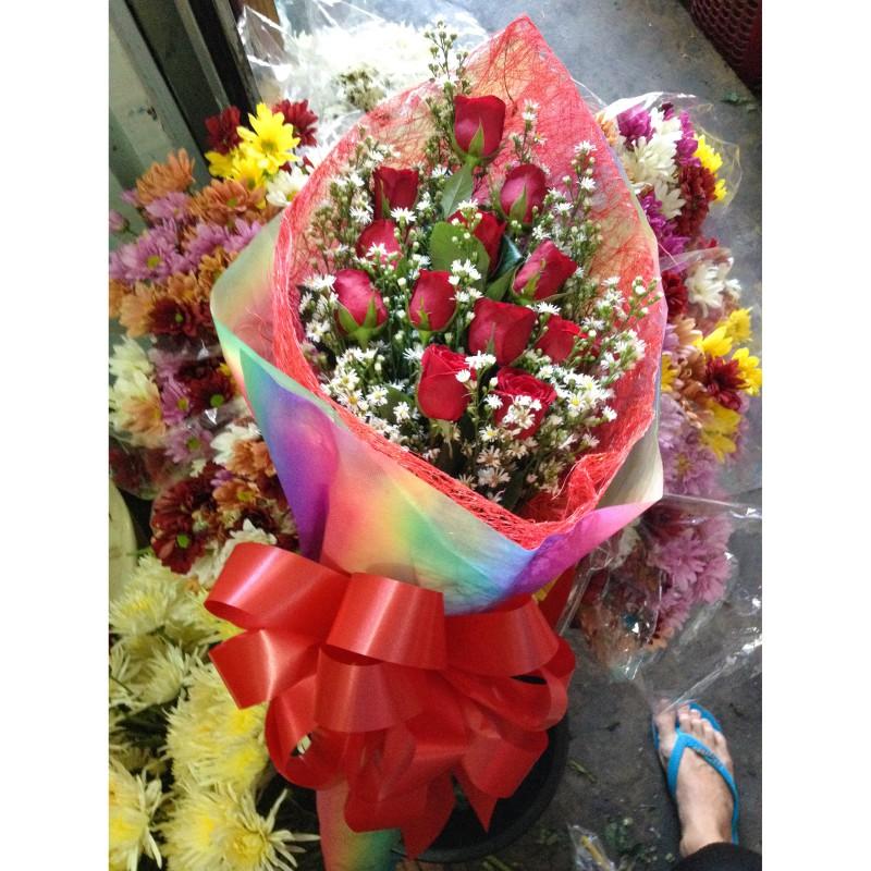 Rainbows Roses Bouquet - Tin\'s Flower Shop - Pangasinan