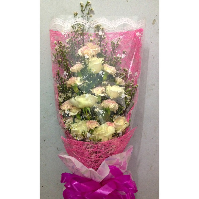 Touch Of Pink Bouquet Tins Flower Shop Pangasinan