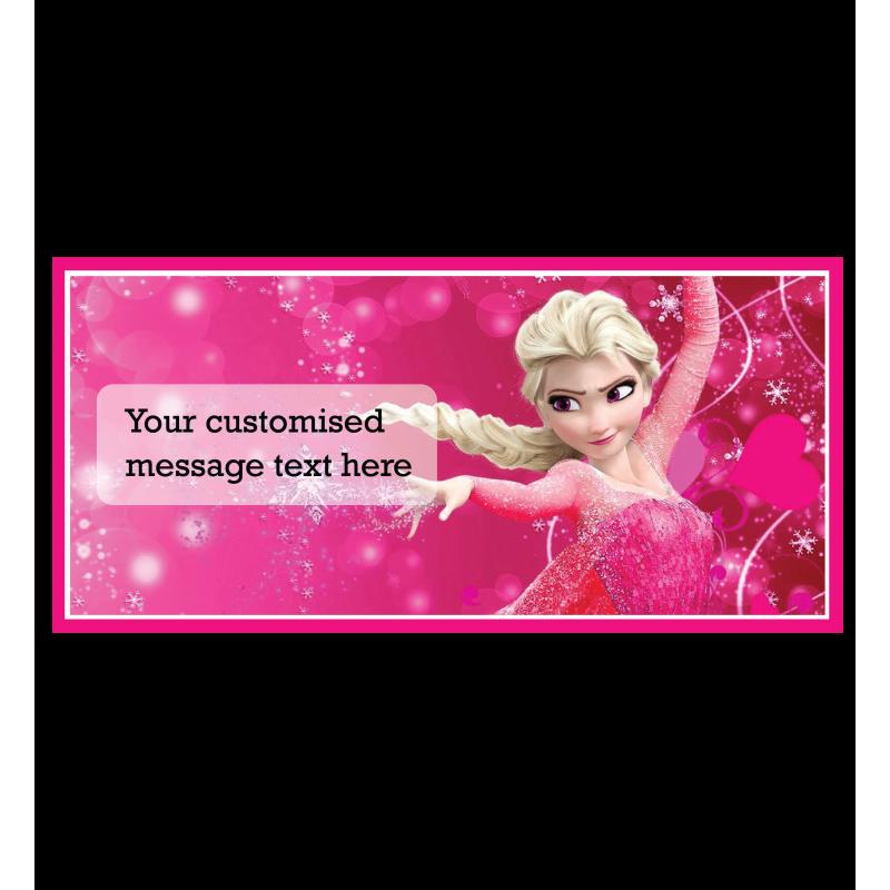 customised gift card elsa frozen message card tin s flower shop